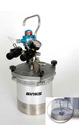Binks SG-2 Plus Steadi-Grip 2 Qt. Propeller Agitated (Rotary) 2 Quart Pressure Cup