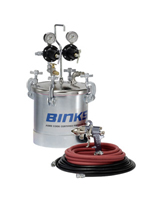 Binks 2 Gal. Pressure Tank Outfit with Binks 2100 Internal Mix Spray Gun